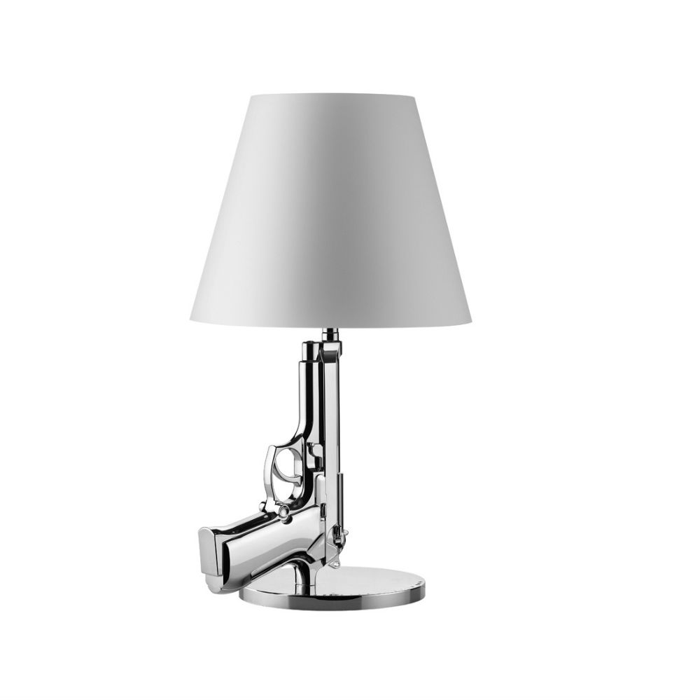 Gun Lampe de table 1x75w E27 avec dimmer Chrome