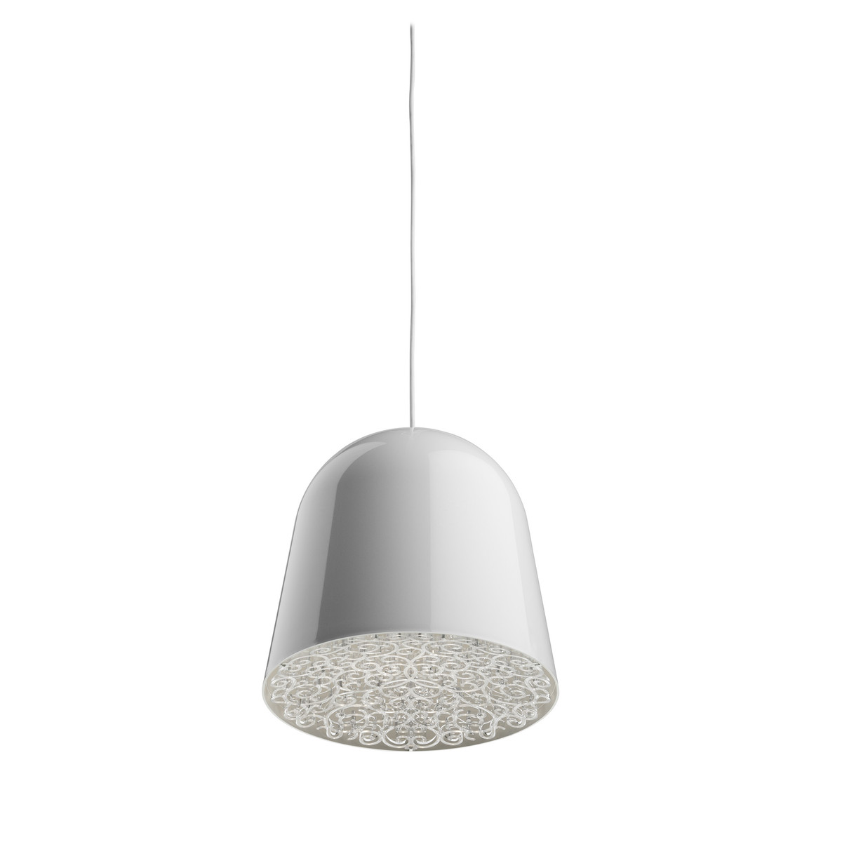 Mini Can Can Track Pendant lamp ø9,4cm GU4 20w White/Transparent