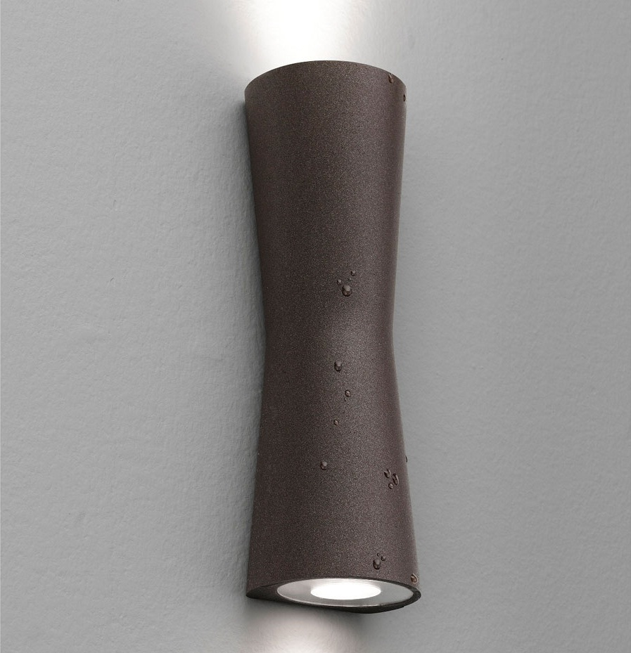 Clessidra Wall Lamp Doble Outdoor 2xLED 10w Brown Oscuro
