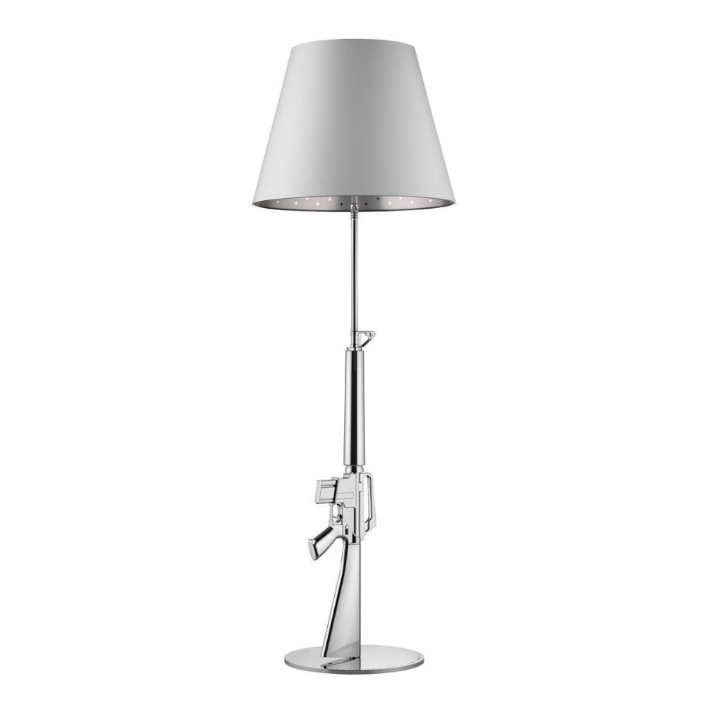 Gun lámpara of Floor Lamp 1x205w E27 with dimmer Chrome