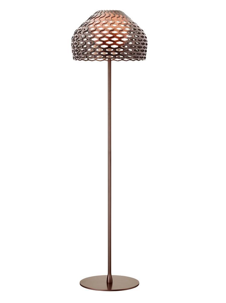 Tatou F lámpara de Pie E27 205w Gris Ocre