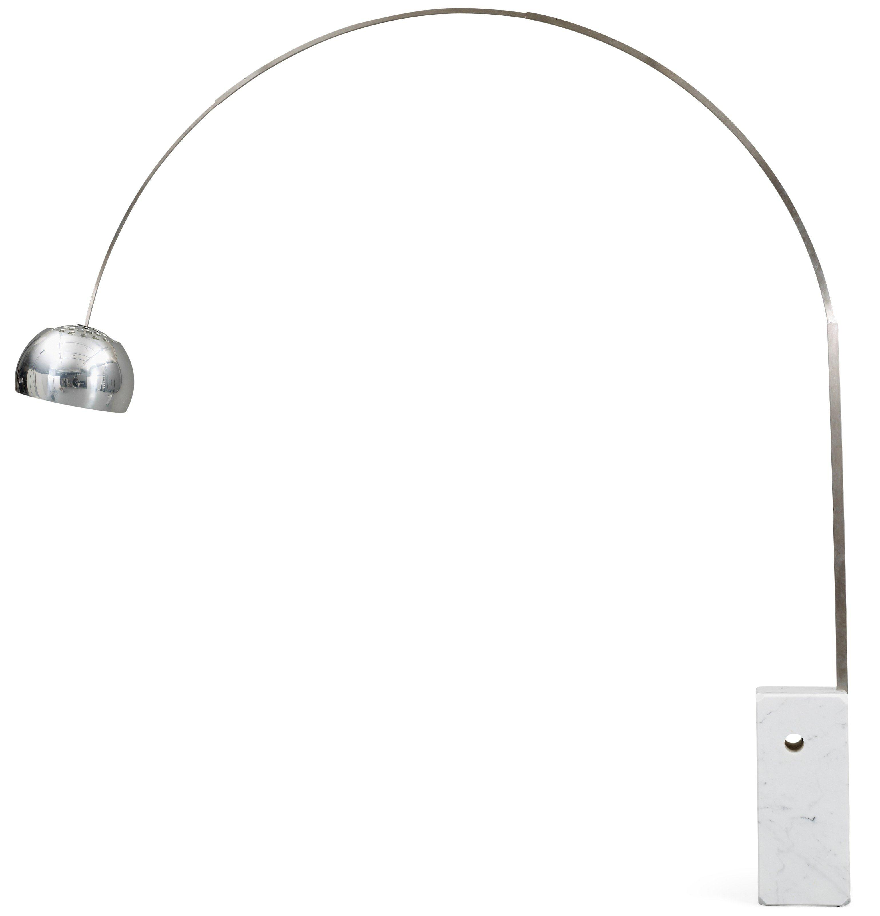 Arco Floor lamp LED Multichip 28w with dimmer Chrome/Marble