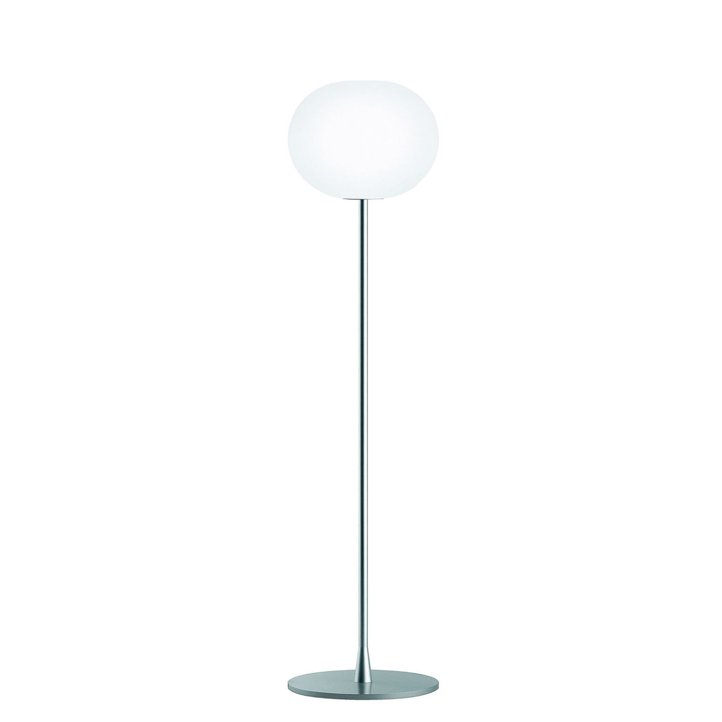 Glo Ball F2 Floor Lamp 175cm E27 150W - Silver mate