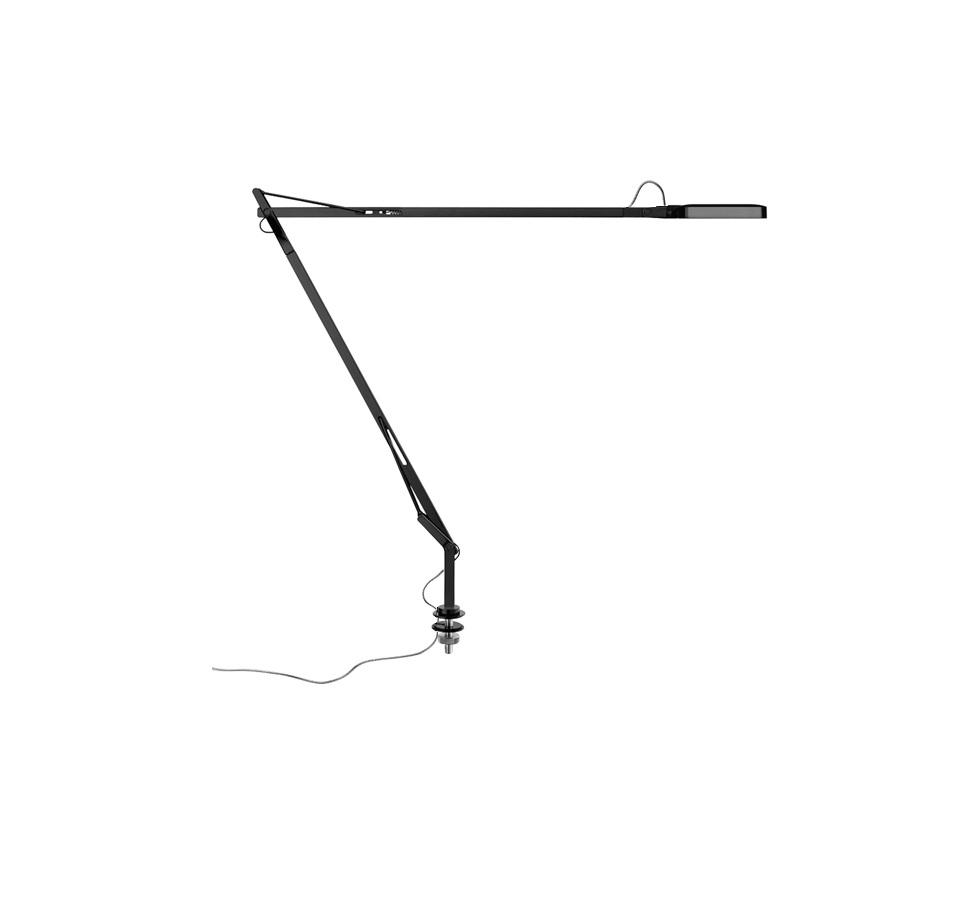 Kelvin LED Tischleuchte mit Halter fest kabel okkult 7.5w weiß Glänzend