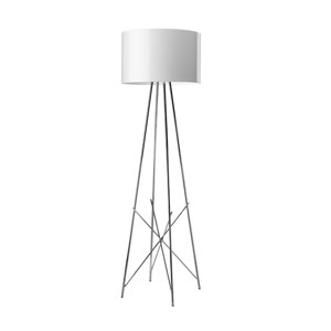 Ray F1 lámpara of Floor Lamp 128cm E27 1x105w white