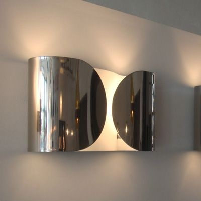 Foglio Wall Lamp 2x100W E27 Chrome