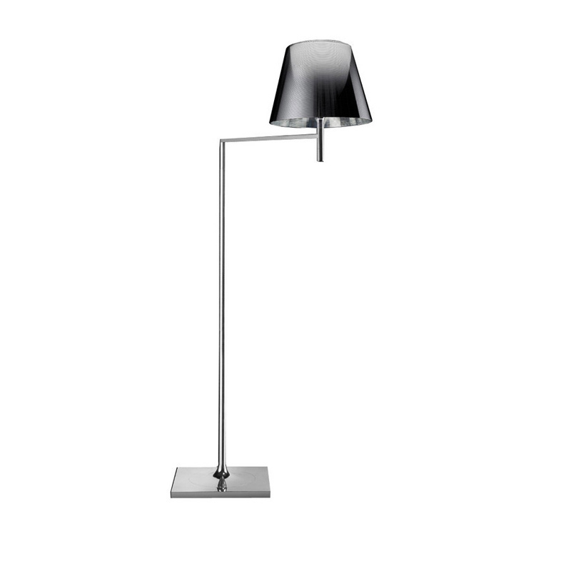 Ktribe F1 lámpara of Floor Lamp 112cm 1x70W E27 Chrome/Smoked