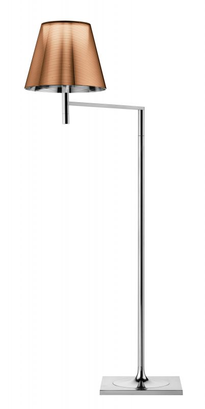 Ktribe F1 lámpara of Floor Lamp 112cm 1x70W E27 Chrome/Aluminizado Bronze