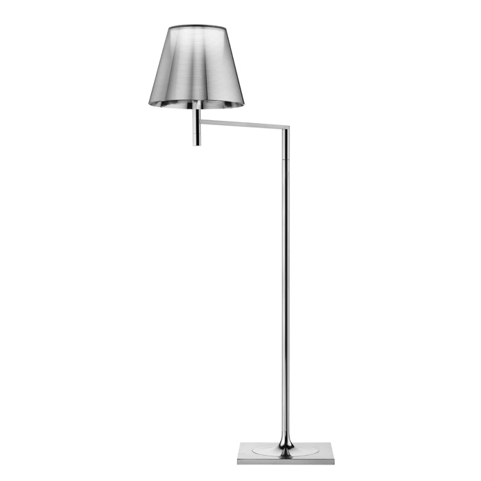 Ktribe F1 lámpara of Floor Lamp 112cm 1x70W E27 Chrome/Aluminizado Silver