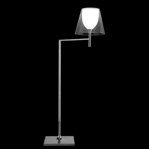 Ktribe F1 lámpara of Floor Lamp 112cm 1x70W E27 Chrome/Transparent