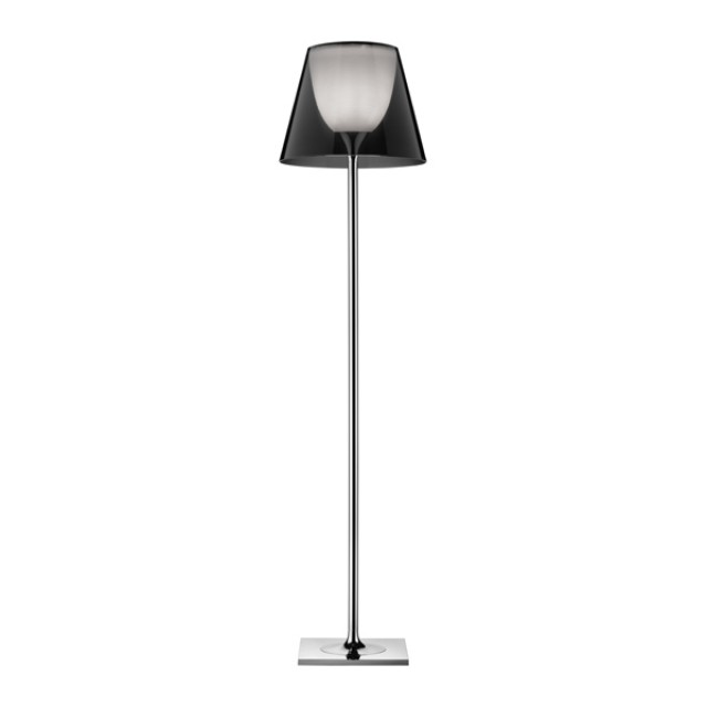 Ktribe F2 lámpara of Floor Lamp 162cm 1x150w E27 Chrome/Smoked