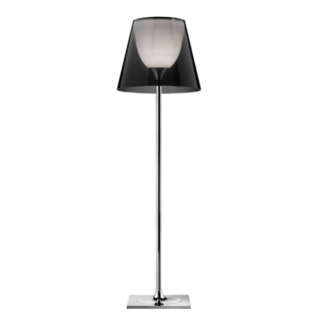 Ktribe F3 lámpara of Floor Lamp 183cm 1x205w E27 Chrome/Smoked