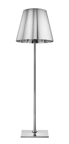 Ktribe F3 lámpara of Floor Lamp 183cm 1x205w E27 Chrome/Aluminizado Silver