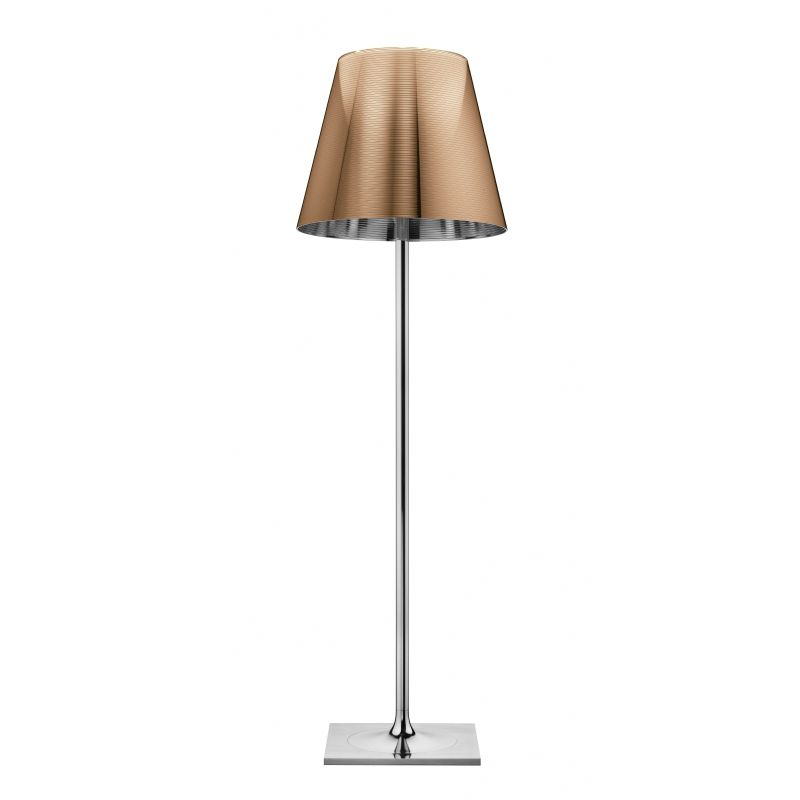Ktribe F3 lámpara of Floor Lamp 183cm 1x205w E27 Chrome/Aluminizado Bronze