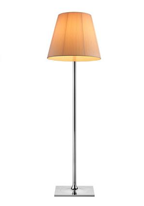 Ktribe F3 lámpara of Floor Lamp 183cm 1x205w E27 Chrome/tela
