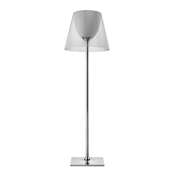 Ktribe F3 lámpara of Floor Lamp 183cm 1x205w E27 Chrome/Transparent