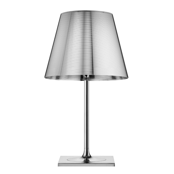 Ktribe T2 Table Lamp 69cm 1x150w E27 Chrome/Aluminizado Silver