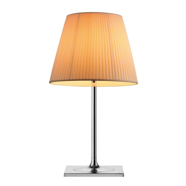 Ktribe T2 Table Lamp 69cm 1x150w E27 Chrome/tela
