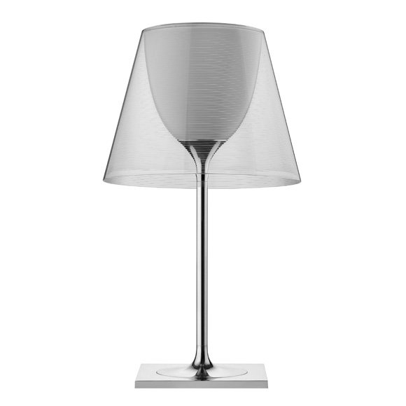 Ktribe T2 Table Lamp 69cm 1x150w E27 Chrome/Transparent