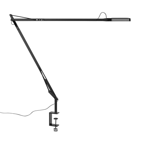 Kelvin LED F lámpara of Floor Lamp 8w 110cm Black Shiny
