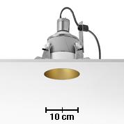 Kap 105 Downlight 105mm diametro para QT 12 Lámpara 50w negro