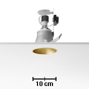 Easy Kap 105 Recessed fixed HI PAR51 35w max Black