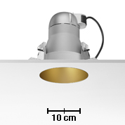 Kap 145 deep Downlight para C dimmable TC 70W Oro mate