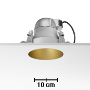 Kap 145 LOW Downlight for C dimmable TC 70W white