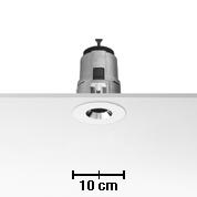 Light Sniper Fijo Round para HI PAR51 Lámpara 35w Inner Ring negro