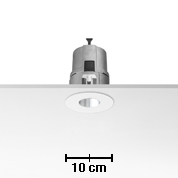Light Sniper Fijo Round para C dimmable Tm 35w Cromo.
