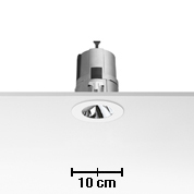 Light Sniper Bañador of wall Round for QR-CBC51 Lamp 50w Inner Ring Chrome