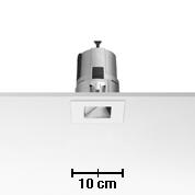 Light Sniper Bañador of wall Square for HI PAR51 Lamp 35w Inner Ring Chrome