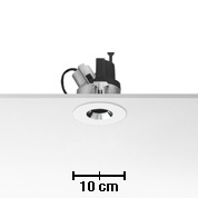 Light Sniper dimmable Round para QR-CBC51 Lâmpada 50w Inner Ring Preto