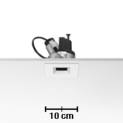 Light Sniper dimmable Square pour HI PAR51 Lampe 35w Inner Ring Noir