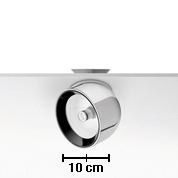 Wan Spot Spotlight for plafón/ wall C dimmable Tm Lamp 35W D 114mm Polished Aluminium