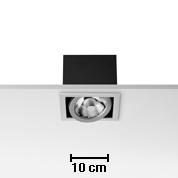 Battery without Framework No Trim 1L Black 1xCDMR 111/GX8.5 70W