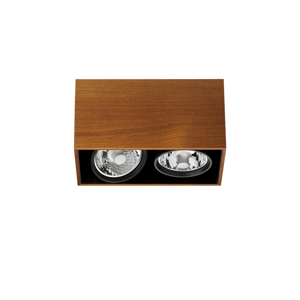 Compass Box 2L H: 160mm Black C dimmable R111 2x35w