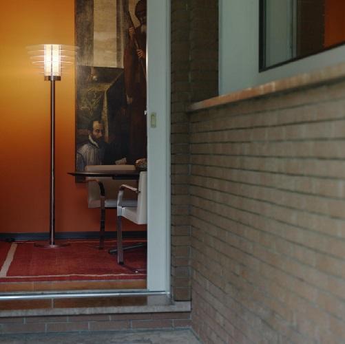 0024 lámpara de Pie ø55x190cm 1x205w E27 (HL) Cromo