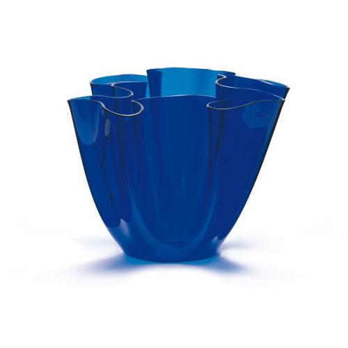 Cartoccio Jarrón 30cm Cristal natural Azul