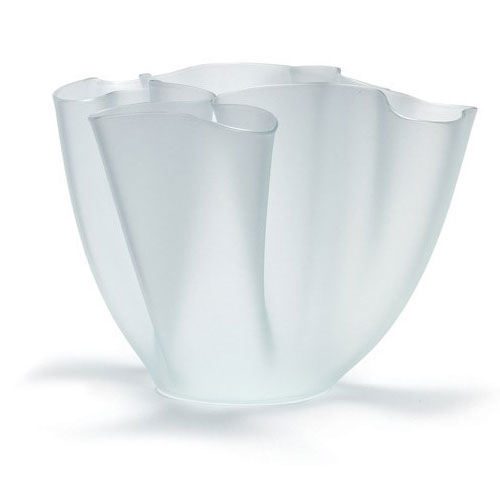 Cartoccio Jarrón 30cm Satin Glass