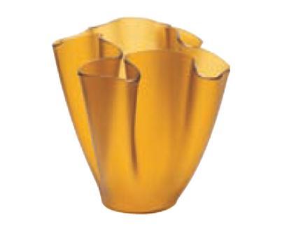 Cartoccio Jarrón 15cm Cristal Satinado Amarillo
