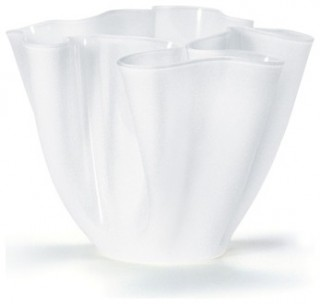 Cartoccio Jarrón 30cm Satin Glass white