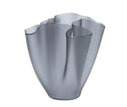 Cartoccio Jarrón 15cm Satiniertes Glas Grau