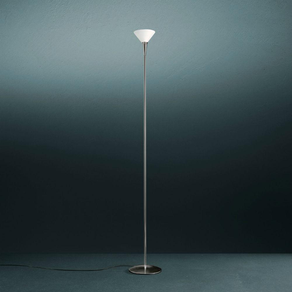 Nuova Segno Tre (Estructura) lámpara de Pie ø24x173cm 1x205w B15d gris Claro