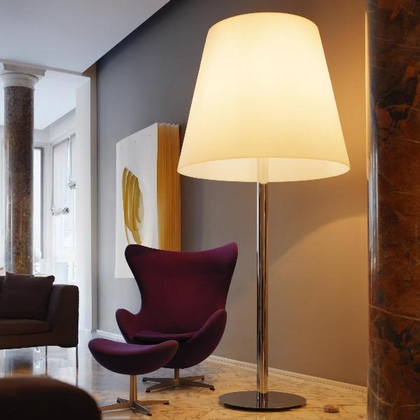 Amax lámpara de Pie ø82x205cm 3x33w E27 (FL) Cromo blanco