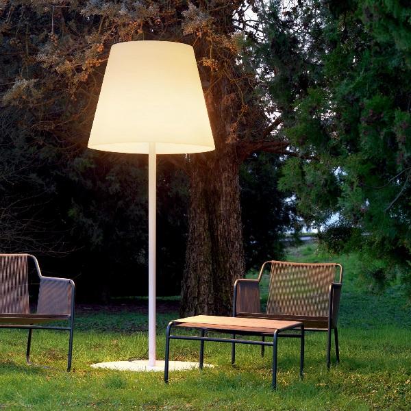 Amax lámpara de Lâmpada de assoalho ø82x205cm 3x20w E27 (FL) Cromo Dimmer branco