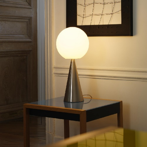 Bilia Table Lamp niquel Ø20x43cm 1x42w E14 (HL)