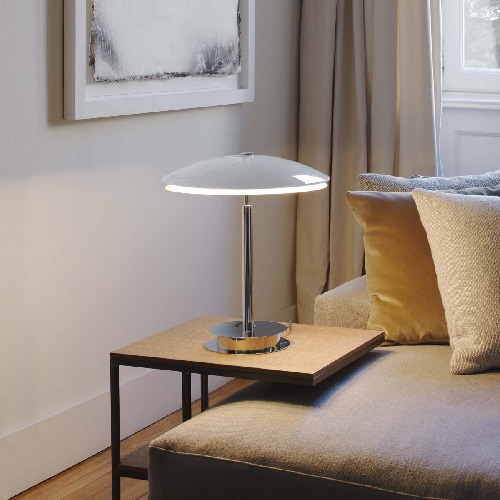 Tris Table Lamp Chrome ø38x43cm 4x28w E14 (HL) Glass Sanddo