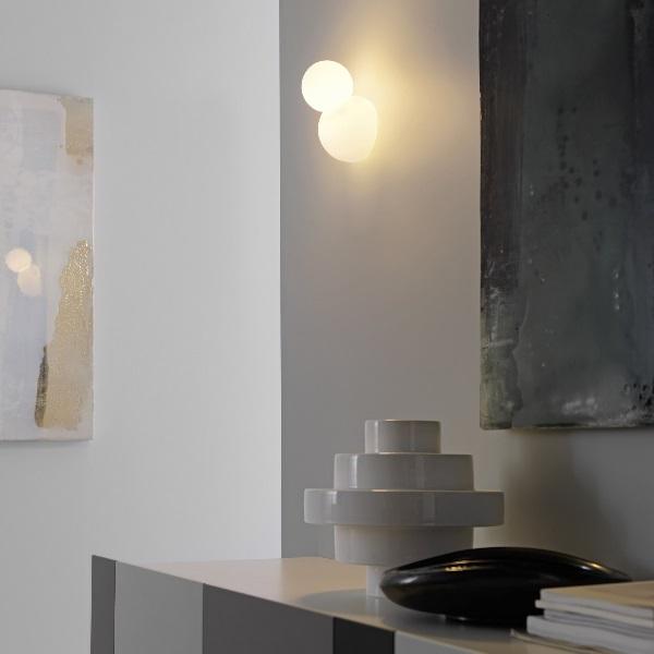 Bruco Aplique níquel/Cristal blanco 12x13x19cm 1x42w E14 (HL)