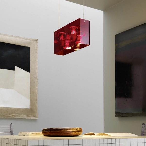 Duplex Colgante 40x10 + 200 4x50w (HA) E27 Rojo